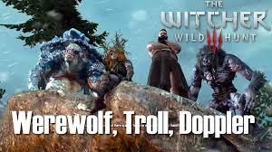 wild hunt witcher 3 werewolf the witcher 3 wild hunt werewolf troll doppler boss death
