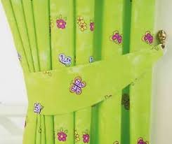 Green Bedroom Curtains Girls Lime Green Fairytale Princess Butterfly Bedroom Curtains 66