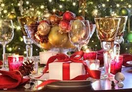 red and gold christmas party theme house design ideas