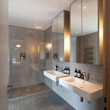 gray shower curtain bathroom contemporary with gray subway tile