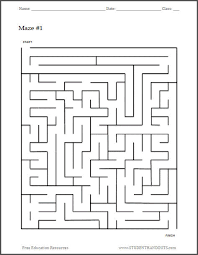 free printable maze worksheet 1 student handouts
