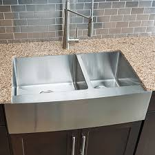 kitchen costco hahn chef series handmade large 60 40 double bowl farmhouse sink
