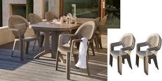 chaises grosfillex salon de jardin grosfillex taupe table 4 chaises miami