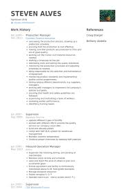 Operation Manager Resume Production Manager Resume Samples Visualcv Resume Samples Database