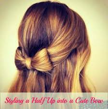 bow hair unique hairstyle styling a half up into a bow women s