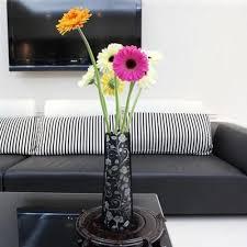 Diy Vase Decor Diy Foldable Home Office Decoration Pvc Plastic Art Vase Flowers