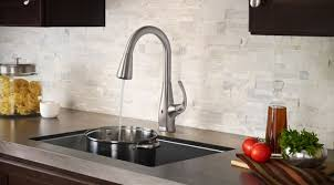touch free kitchen faucets pfister react brings touch free faucet to your kitchen mikeshouts