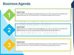agenda template business agenda editable powerpoint template