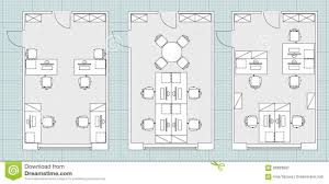 Standard Floor Plan Dimensions by Interior Office Furniture Floor Plan With Magnificent Kitchen
