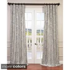 Faux Silk Embroidered Curtains Faux Silk Geometric Curtains Drapes For Less Overstock