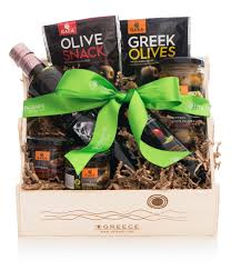 olive gift basket black and white gift set