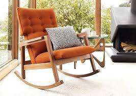 furniture orange padded rocking comfortable reading chair 30