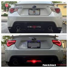 White With Chrome Inside Valenti Led Tail Lights For 2012 15 Scion