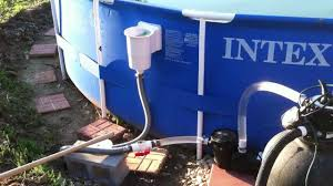 Intex Pool Frame Parts Hacked Intex 18 With Standard Above Ground Skimmer 1hp Pump And