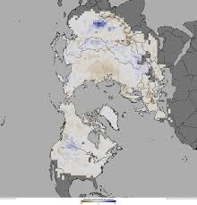 Snow Depth Map State Of The Climate 2011 Snow Cover In Northern Hemisphere