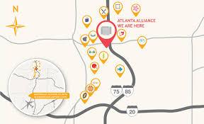 Atlanta Airport Food Map by The Atlanta Hotel Alliance
