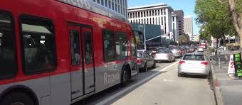 law breaking drivers disrespecting new wilshire boulevard bus only