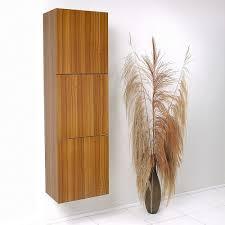 Teak Bathroom Storage Teak Bathroom Linen Side Cabinet W 3 Large Storage Areas