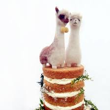 alpaca wedding cake toppers u2014 fudge and mabel