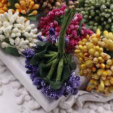 Home Decoration Flowers 16 12pcs Berry Artificial Stamen Handmade Flower For Wedding Home