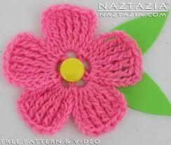 Free Pattern For Crochet Flower - diy free pattern crochet large petal flower with youtube video by