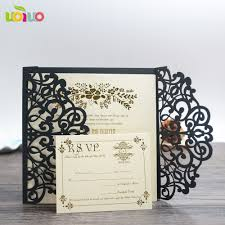 Black And White Invitation Cards Online Buy Wholesale Black Invitation Cards From China Black