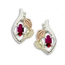s birthstone earrings black gold on sterling silver birthstone earrings