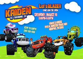 monster truck birthday invitations party ideas u2014 all invitations ideas