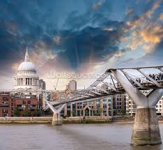millennium bridge london wallpaper wall mural wallsauce usa millennium bridge london wall mural photo wallpaper