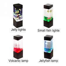 aquarium tank led mini led jellyfish lamp table lamp for home