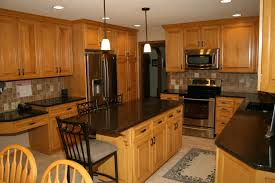Kitchen Backsplash Ideas For Dark Cabinets Dark Counters With Wood Cabinets Kitchen Countertop U0026 Backsplash