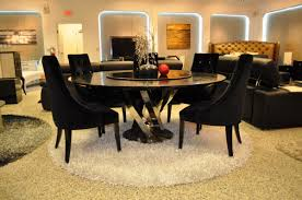 a u0026x spiral round black crocodile lacquer table w lazy susan