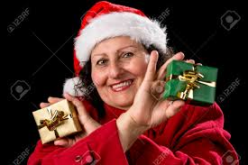 what to get an elderly woman for christmas gentle middle aged woman with christmas cap and coat