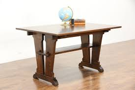 Mission Sofa Table by Arts U0026 Crafts Mission Oak Library Breakfast Or Dining Antique