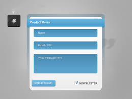 25 free psd contact form designs