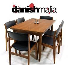 mid century danish modern teak dining set table 6 chairs mid century danish modern teak dining set table 6 chairs