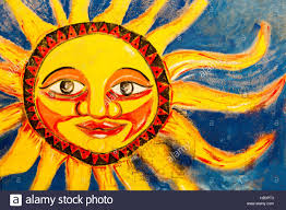 mural painting brush stock photos mural painting brush stock colored bright sun mural painted on wall in santa marta colombia stock image
