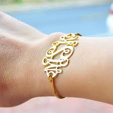 monogrammed bangle bracelet buy monogram bangle bracelet and get free shipping on aliexpress