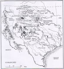 Map Of Mexico 1821 Comanche Indians The Handbook Of Texas Online Texas State