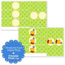 printable napkin rings printable winnie the pooh napkin rings printable treats