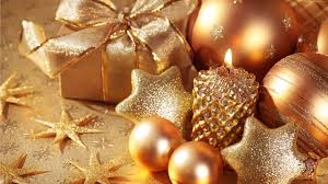 wallpaper christmas new year star candle gift balls gold