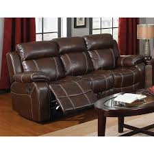 faux leather reclining sofa shop coaster fine furniture myleene casual coffee faux leather