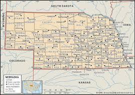 Ga Counties Map State And County Maps Of Nebraska