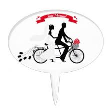 bicycle cake topper i my family cake topper zazzle