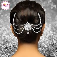 hairstyle joora video madz fashionz usa mehrani bridal hair bun headpiece jodha silver