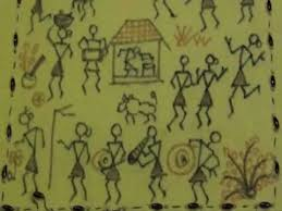 Warli Art Simple Designs Cushion Cover With Warli Design Painting Youtube