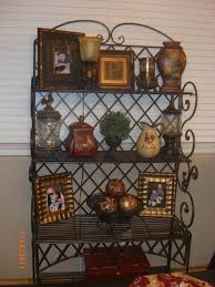 Bakers Rack Wrought Iron Awesome Decorating A Bakers Rack Images Decorating Interior