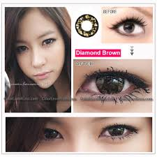 eos diamond brown colored contacts pair 218br 19 99