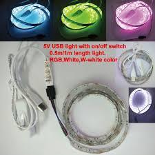 aliexpress com buy 0 5m 1m pc 5v usb led strip smd5050 flexible