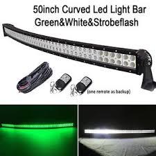50 led curved light bar green white strobeflash hog